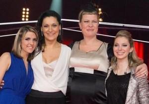 Das sind die grössten Schweizer Gesangstalente: Angie Ott, Iris Moné, Nicole Bernegger und Sarah Quartetto (v.l.)