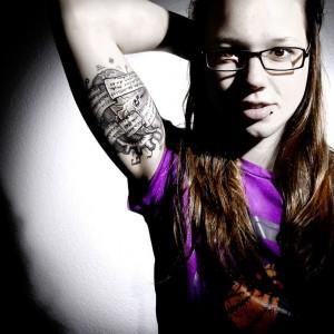 Stefanie Heinzmanns neues Tattoo mit Sidos Songtext